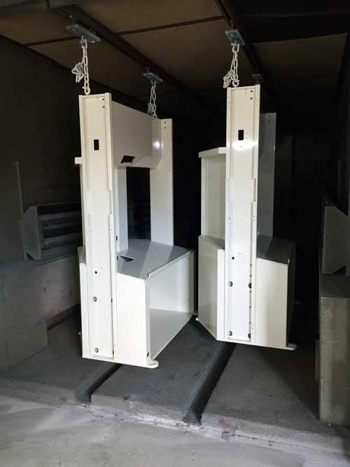 Poedercoaten van machine kasten