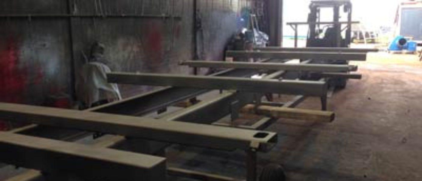 Vermadox zandstralen van een oplegger